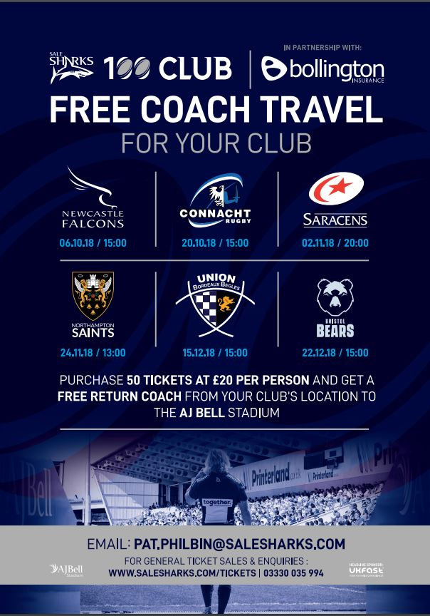 Sale Sharks - Free Tickets & Travel